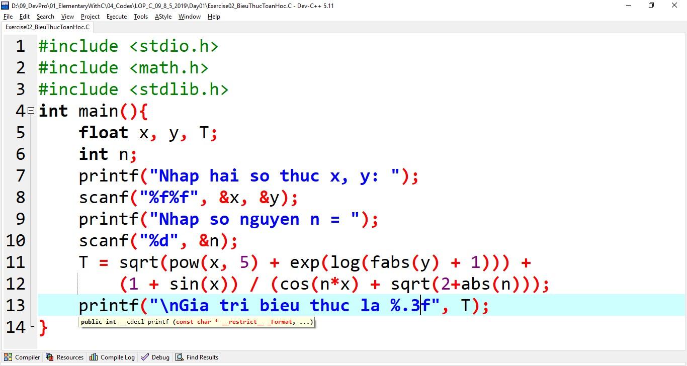 Một số dạng bài tập mẫu C / C ++ cần nhớ